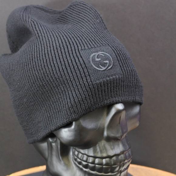 Gucci Wool Black GG Beanie 271cd8cfe39